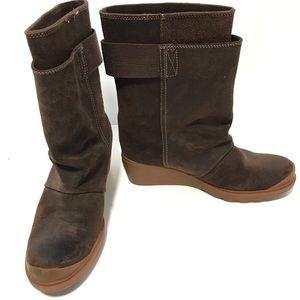 Sorel Toronto brown waterproof suede rubber soles